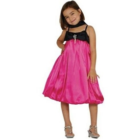 Fuchsia/Black Special Occasion Dress