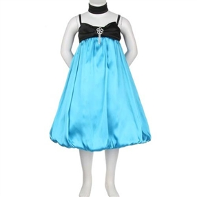 Turquoise/Black Special Occasion Dress