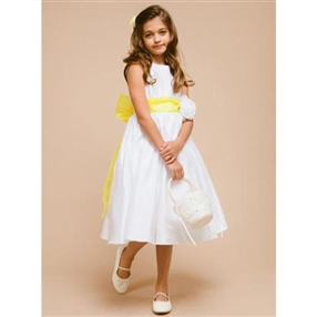 Shirley White Flower Girl Dress