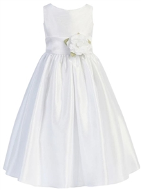 Ashley White Flower Girl Dress