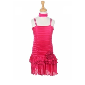 Fuchsia Pleated Dress