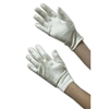 Girls Satin Formal Gloves Ivory