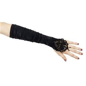 Adult Gloves - Black/Beaded