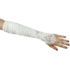 Adult Gloves - Ivory/Beaded