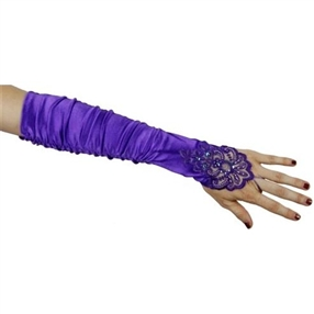 Adult Gloves - Lilac/Beaded