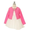 Soft Flower Girl Sweater - Fuchsia
