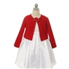 Soft Flower Girl Sweater - Red