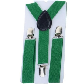 Boys Suspenders - Green