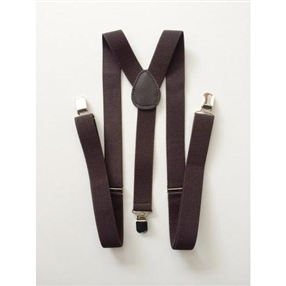 Boys Suspenders - Choco Brown