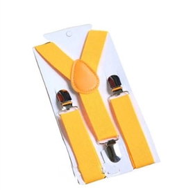 Boys Suspenders - Yellow Gold