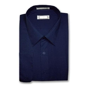 Boys Navy Dress Shirt - Long sleeves