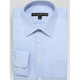 Boys Long Sleeve Dress Shirt: POWDER BLUE