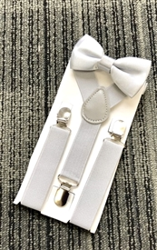 Boys Suspenders - Lt. Grey