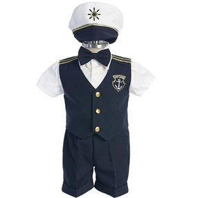 Baby & Boys Captain Suit