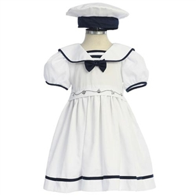 Baby & Girls White Sailor Dress