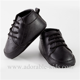 Baby Boys Pre-walker Black Dress Shoes
