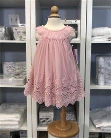 Althea Baby Dress: Rose Pink
