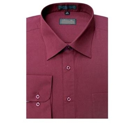 Boys Dress Shirt - Burgundy