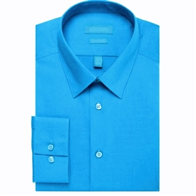 Long Sleeve Dress Shirt - Turquoise