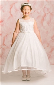 Clarice Floor Length Gown: Communion Dress