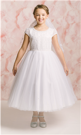 Jaden Tulle Dress: WHITE