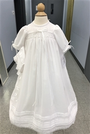 Andrea Christening Gown -WHITE