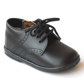 Boys Leather Shoes - BLACK