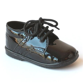 Boys Patent Shoes - BLACK