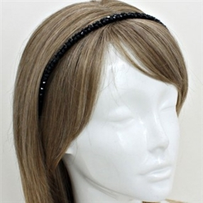 Black Crystal Headband