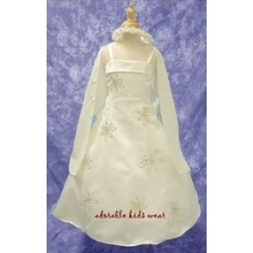 Sarah Ivory Flower Girl Dress