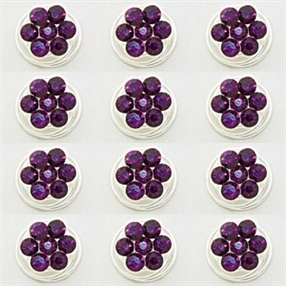 6pcs Rhinestone Screws | Twists - PURPLE