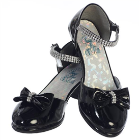 Bella Girls Dress Shoes: BLACK -