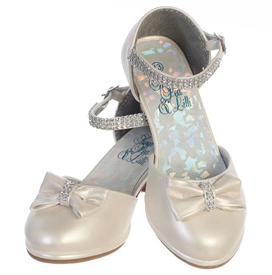 Bella Girls Dress Shoes: IVORY -