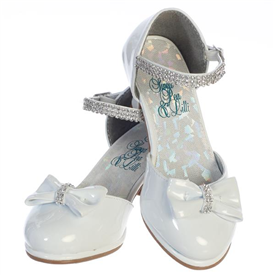 Bella Girls Dress Shoes: WHITE -