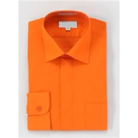 Boys Dress Shirt & Tie - Orange