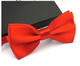 Boys Silky Satin Bowtie - RED