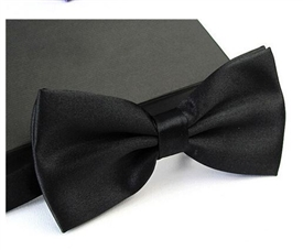 Satin Bowtie - Black