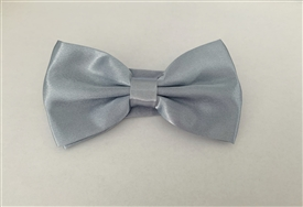 Boys Silky Satin Bowtie - DARK GREY