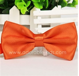 Boys Silky Satin Bowtie - ORANGE