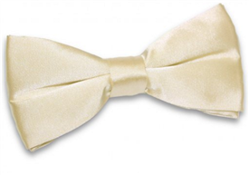 Silky Satin Bowtie: Light CHAMPAGNE