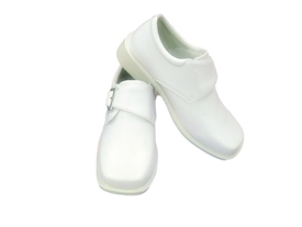 Jackie Boys Dress Shoes: PATENT WHITE -