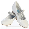 Flower Girls White Dress Shoes