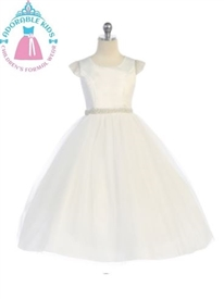 Rosalie Tulle Girls Dress: IVORY