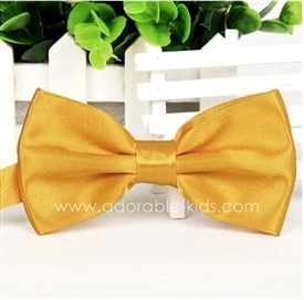 Silky Satin Bowtie - YELLOW GOLD