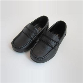 Big Boys Black Dress Shoes