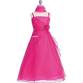 Kerri - Fuchsia Flower Girl Dress