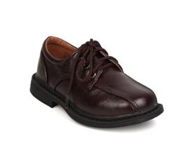 Ricky Boys Dress Shoes: BROWN -