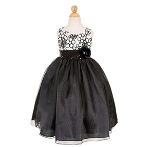 Black / White Girls Dress