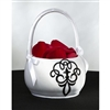 Black/White Flower Girls Basket