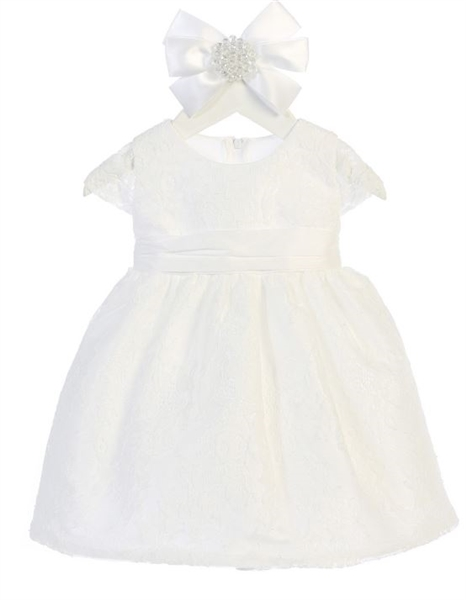 Kylie Baby & Girls Dress: WHITE